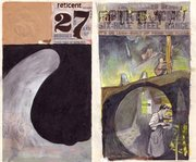 Original cover art from the second series, featuring issues no.  and no. .