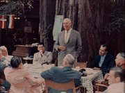 Breakfast at  Nest Camp, Bohemian Grove, July 23, 1967
